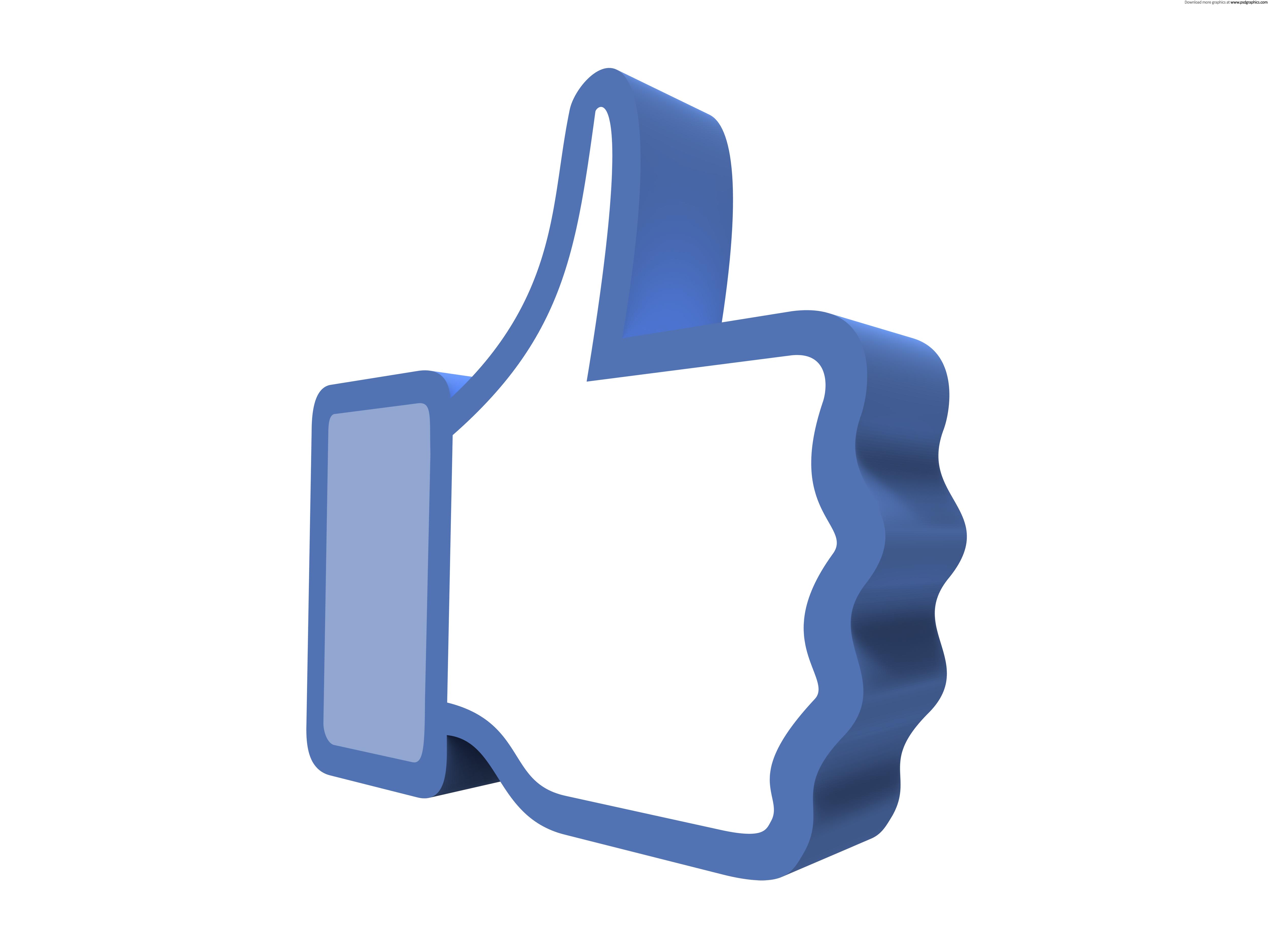 5000x3750 Facebook Like Button Clipart