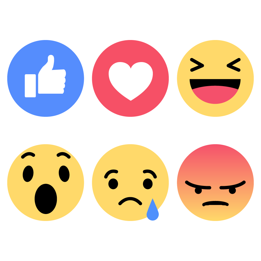 900x900 Facebook Emoticons Emoji Faces Vector Icons Like Love Haha Wow Sad