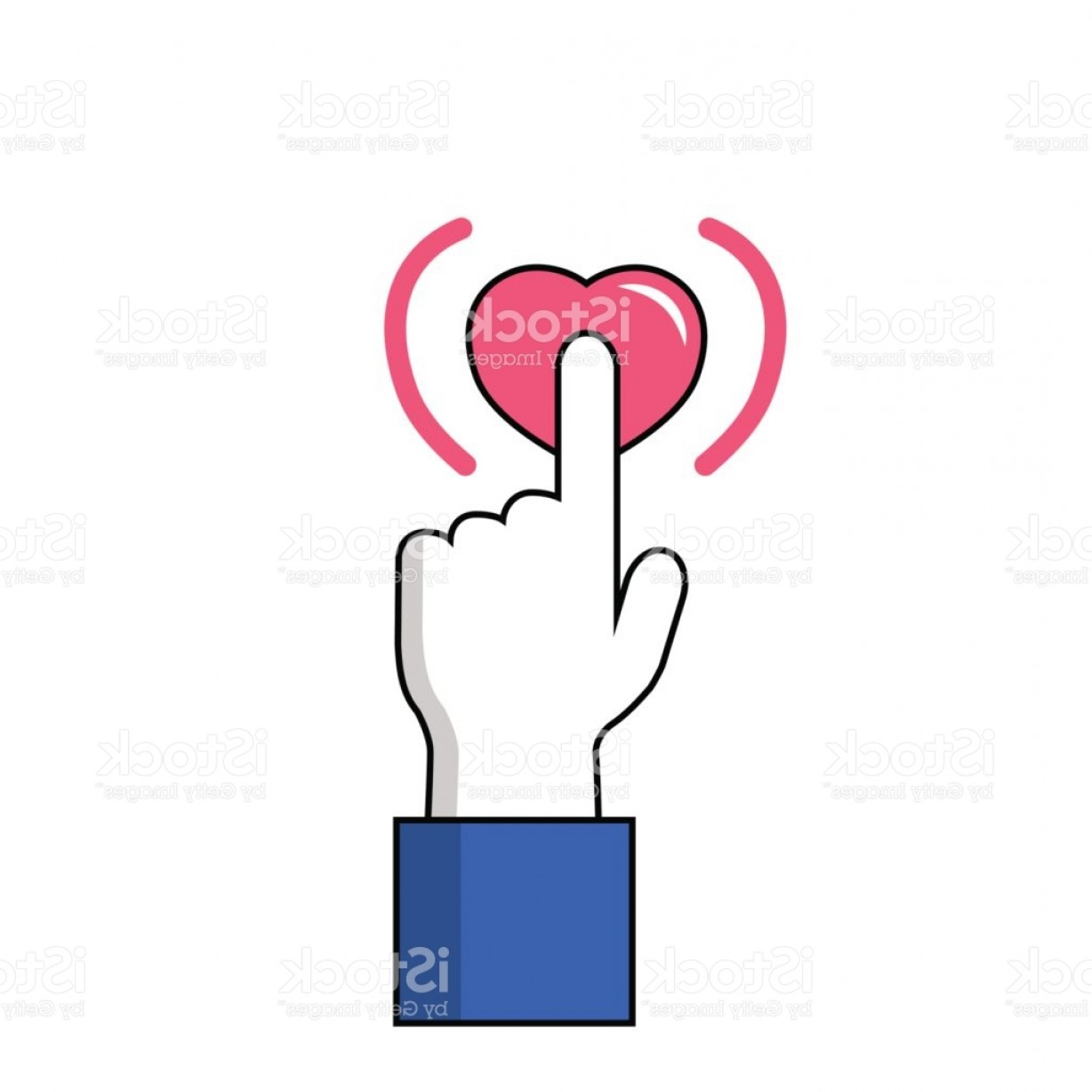 1228x1228 Facebook Hand On Like Button Vector Icon On White Background Hand