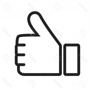 300x300 Thumbs Up Like Social Network Facebook Etc Icon Vector Shopatcloth