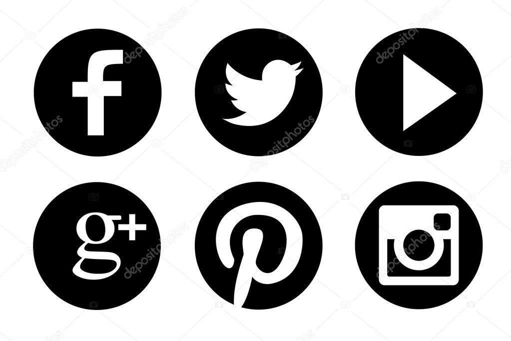 facebook icon black vector