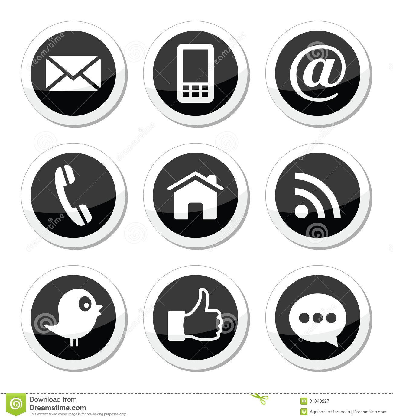 1300x1390 Facebook Icon Black White