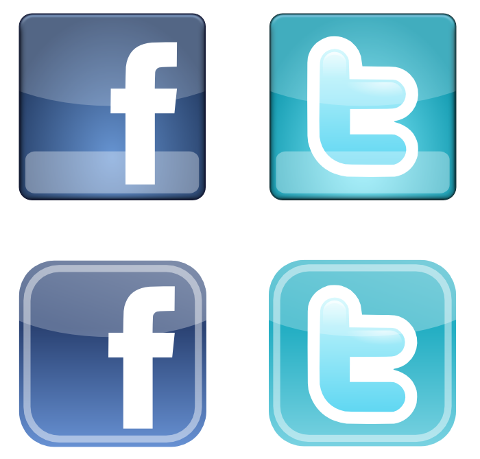 700x669 Facebook And Twitter Vector Free Vector Graphics