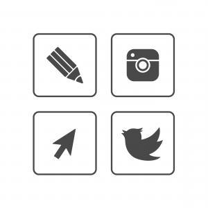 300x300 Stock Illustration Black Icon Set Social Media Arenawp