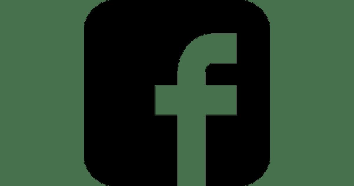 1200x630 Black And White Facebook Logo In Vector De