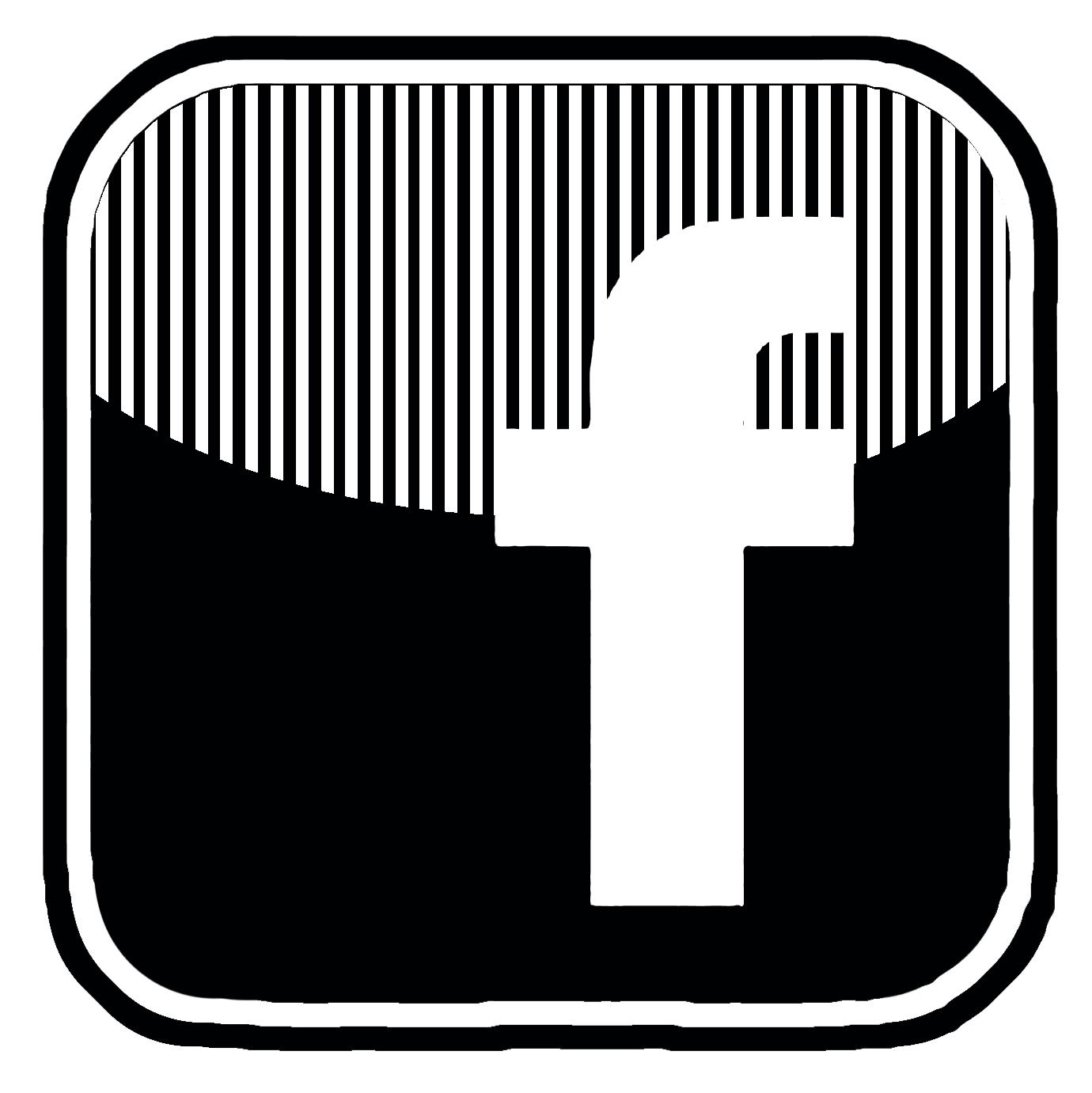 1380x1381 Black Facebook Logo Vector