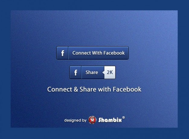 Facebook Share Button Vector