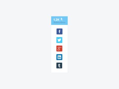 400x300 Free Social Share Bar Psd For Website Free Psd,vector,icons