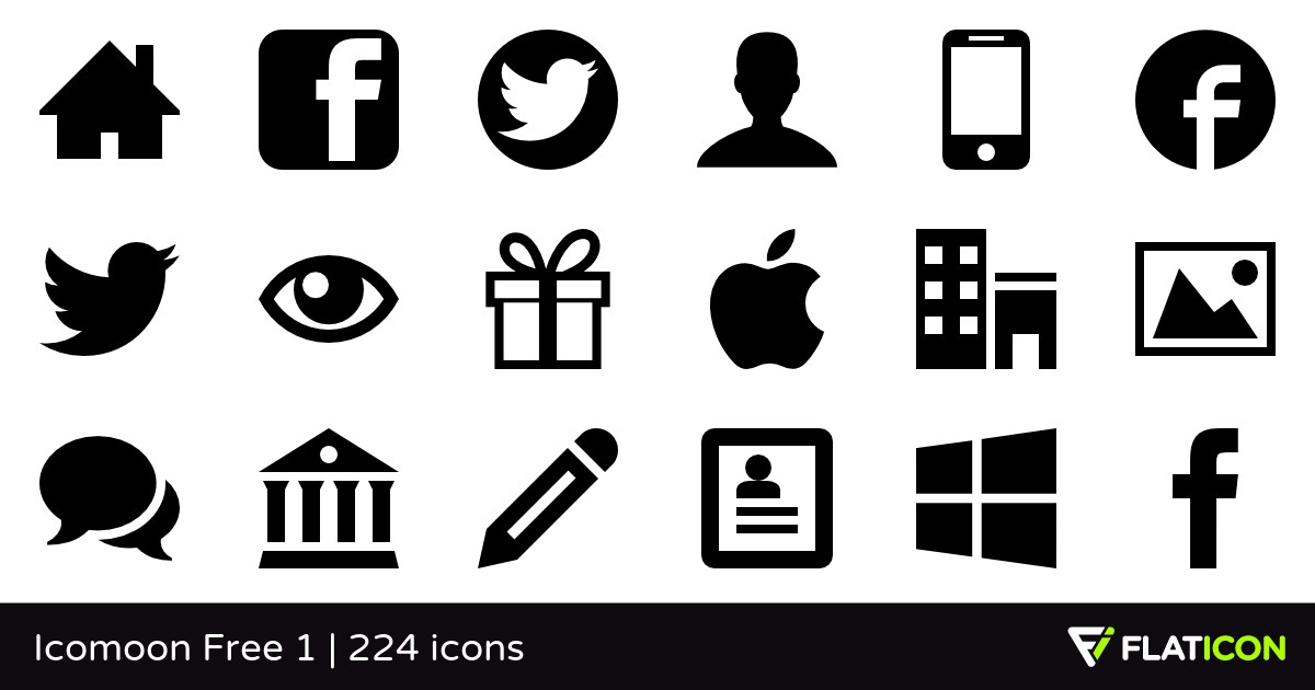 1200x630 Icomoon Free 1 +220 Free Icons (Svg, Eps, Psd, Png Files)