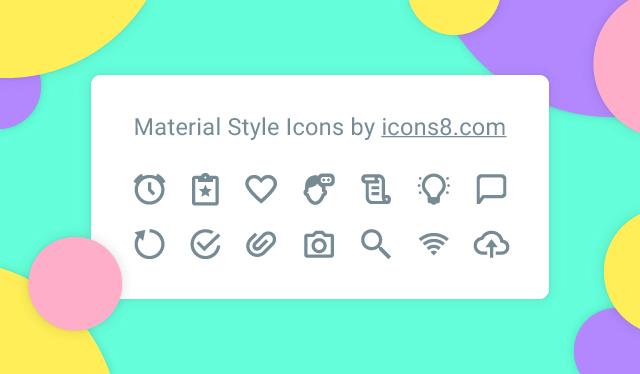 640x374 Material Design Icons