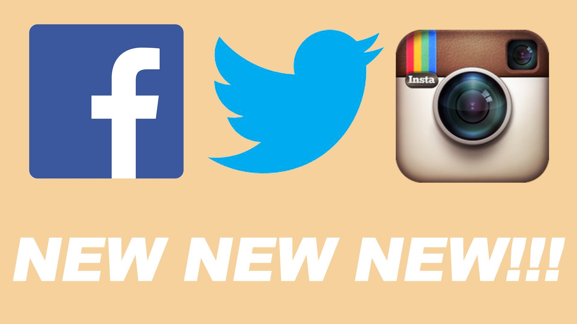 1920x1080 Facebook Twitter Instagram Logos