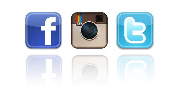 570x300 Logo De Facebook Twitter Et Instagram
