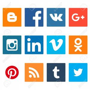 300x300 Stock Photo Contact And Social Media Icons Set Twitter Facebook
