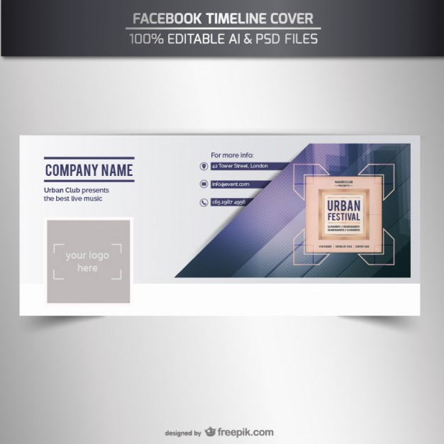 626x626 Facebook Timeline Cover Vector Vector Free Vector Download In