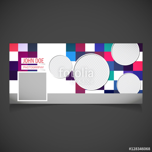 500x500 Creative Photography Banner Template. Place For Image. Photography