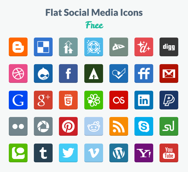 600x550 Facebook Vector Icons Free Flat Social Media Icons Png Amp Psd
