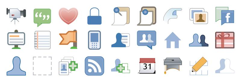 800x274 Facebook Style Icon Vector