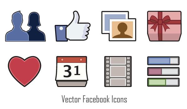 600x350 Free Vector Facebook Icons Psd Files, Vectors Amp Graphics