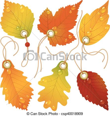445x470 Autumnal Discount. Vector Fall Leaves.