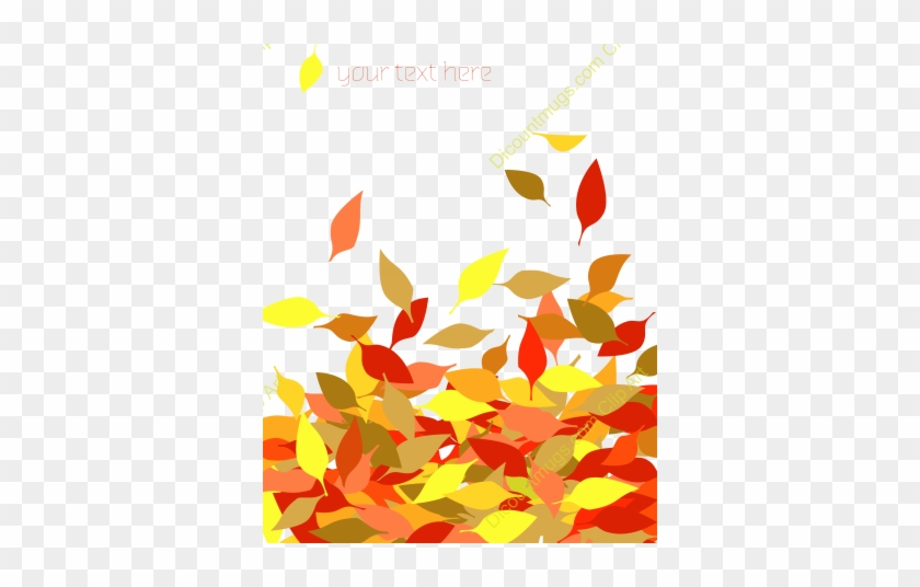 840x536 Fall Leaves Border Vector Free Clipart