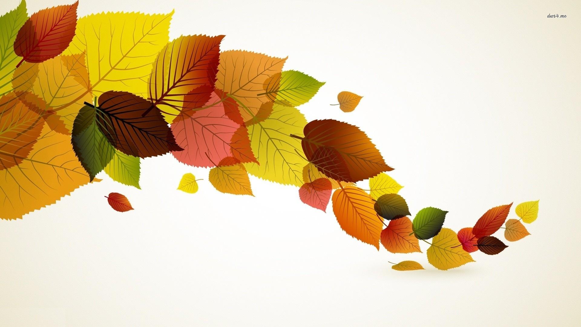 1920x1080 Fall Leaves Vector Hd Desktop Wallpaper, Instagram Photo