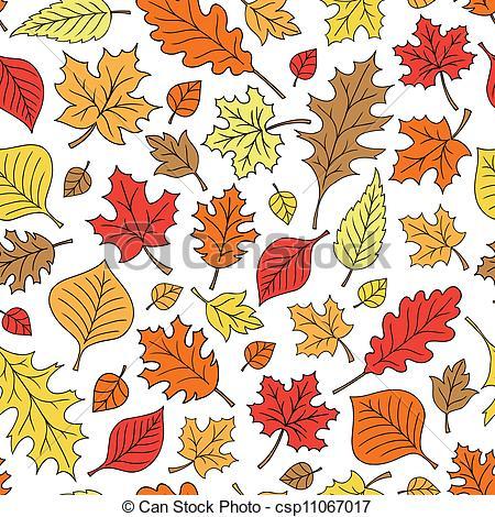 450x470 Fall Leaf Foliage Seamless Pattern. Autumn Fall Foliage Leaves
