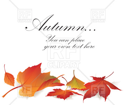 400x338 Fall Leaf Nature Banner. Autumn Leaves Background. Vector Image