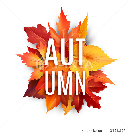 450x465 Autumn Foliage Leaf Vector Poster Of Fall Leaves