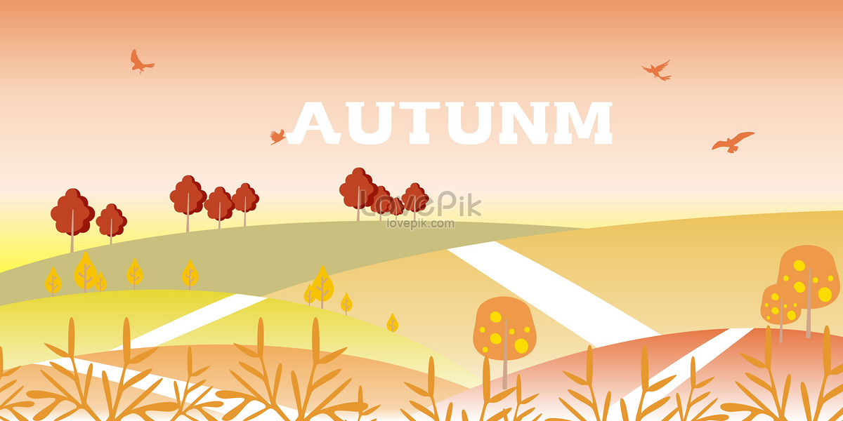 1200x600 Fall Vector Background Backgrounds Image Picture Free Download