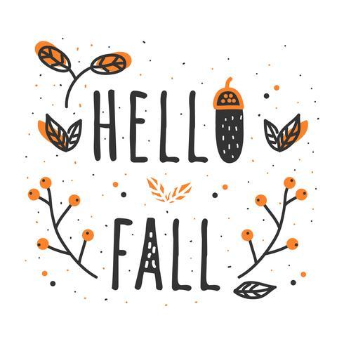 490x490 Hello Fall Vector