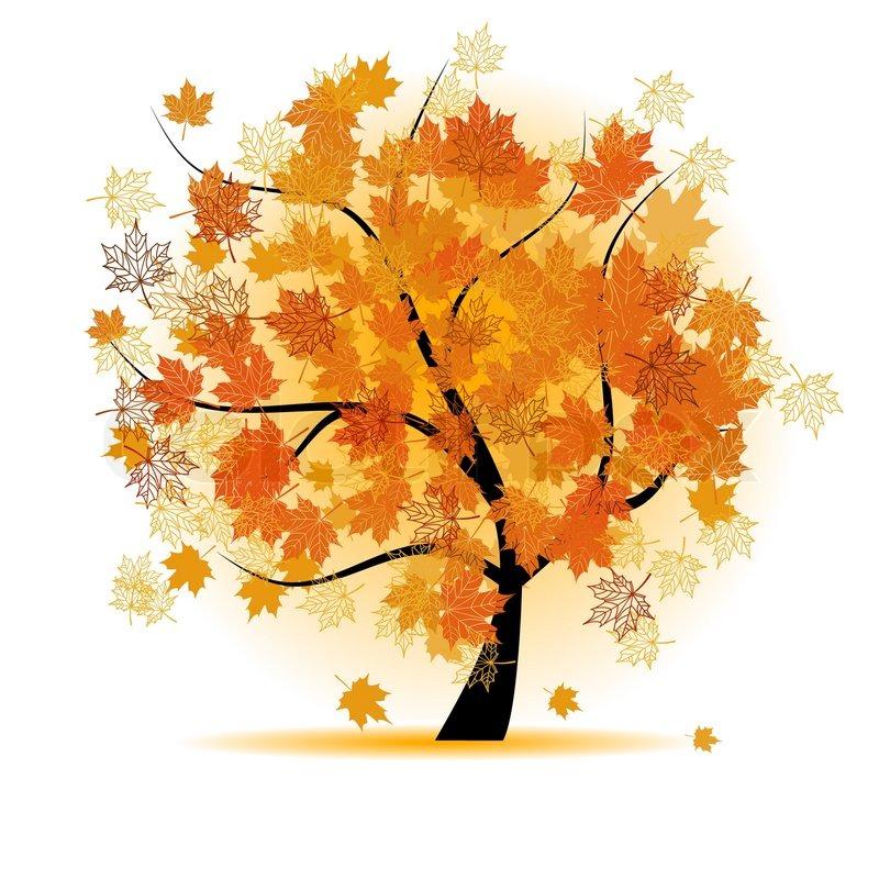 800x800 Maple Tree, Autumn Leaf Fall Stock Vector Colourbox