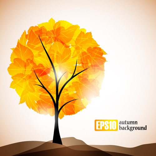 500x500 Set Of Leaf Fall Vector Backgrounds Vector 02 Free Download