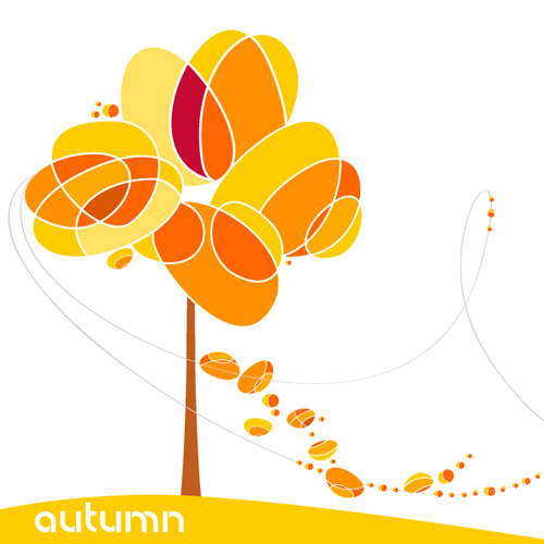 500x500 Set Of Leaf Fall Vector Backgrounds Vector 05 Free Download