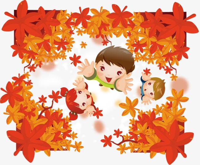 650x536 Children Fall Vector Illustration Material, Children Vector, Child