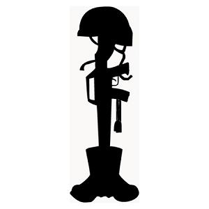300x300 Fallen Soldier Vector Art