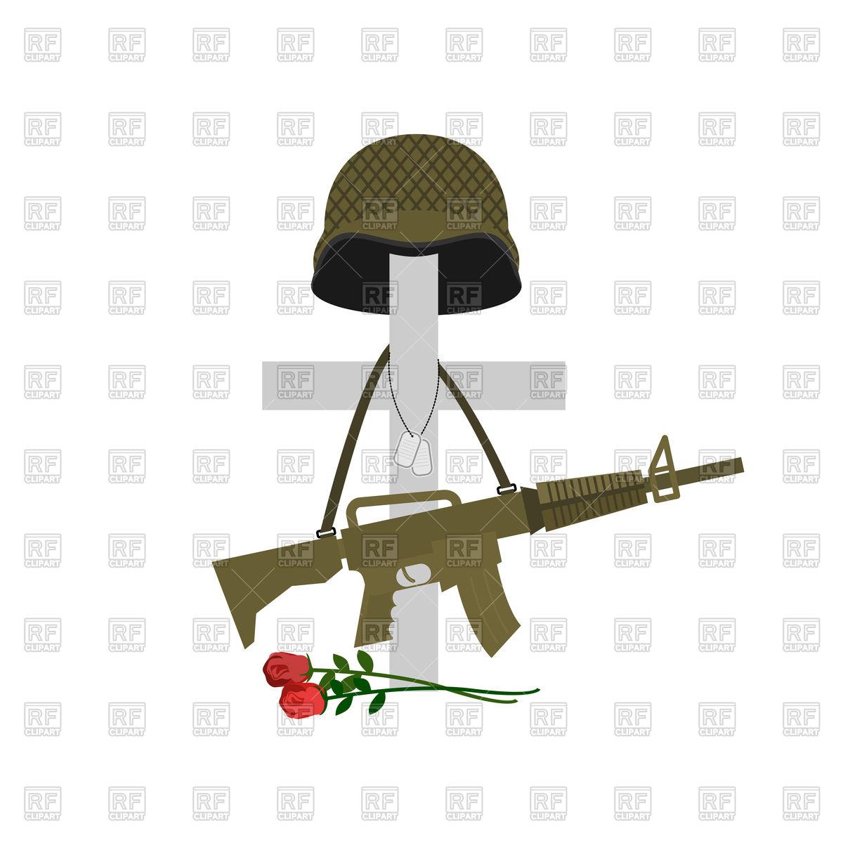 1200x1200 Grave Of Fallen Soldier Vector Image Vector Artwork Of