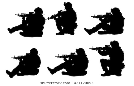 433x280 Awesome Fallen Soldier Silhouette Template Military Radio Stock