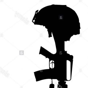 300x300 Vector Silhouette Graphic Depicting Soldier Kneeling Arenawp