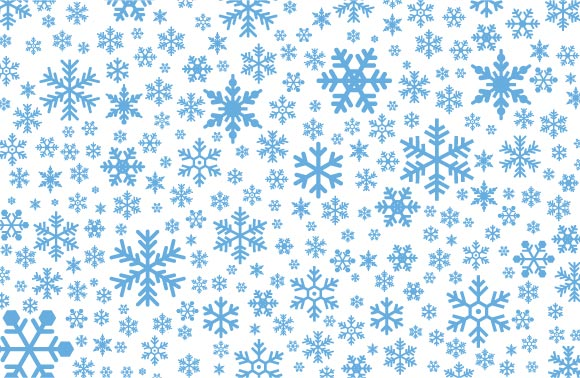 580x378 Falling Snowflakes Free Stock Vector Set No Cost Royalty Free Stock