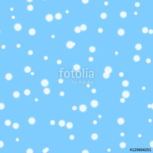500x500 Falling Snow Vector Seamless Pattern. White Splash On Blue