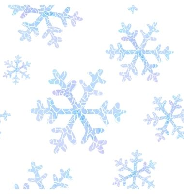 380x400 Seamless Pattern With Falling Snowflakes Vector