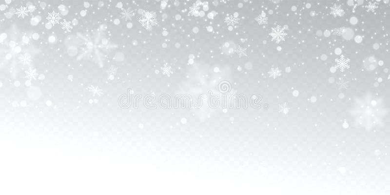 800x400 Snowflakes Light Download Realistic Falling Snow With White