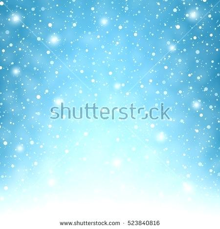 450x470 Snowflakes Light Flying Snowflakes On A Light Blue Background