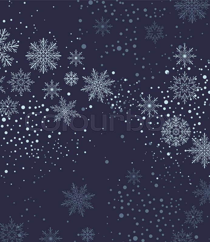 692x800 Vector Illustration Of Falling Snowflakes. Christmas Background