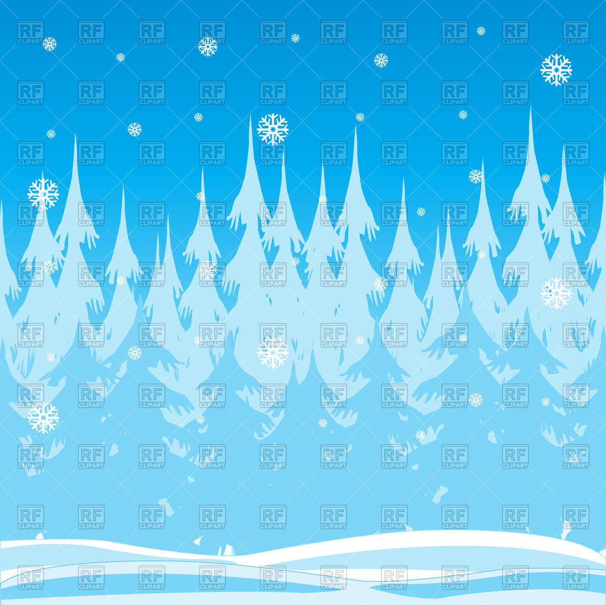 1200x1200 Winter Forest And Falling Snow Vector Image Vector Artwork Of