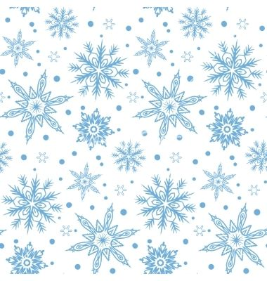 380x400 Winter Pattern With Various Falling Snowflakes Vector By Tukkki On