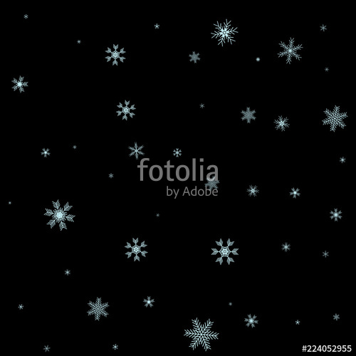 500x500 Christmas Falling Snow Vector Isolated On Dark Background