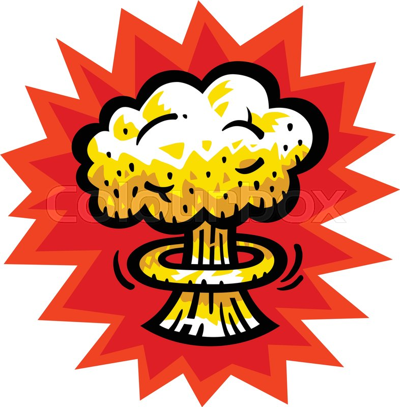 786x800 Mushroom Cloud Atomic Nuclear Bomb Explosion Fallout Vector Icon