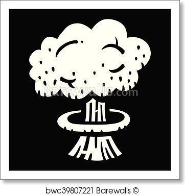 362x382 Art Print Of Mushroom Cloud Atomic Nuclear Bomb Barewalls