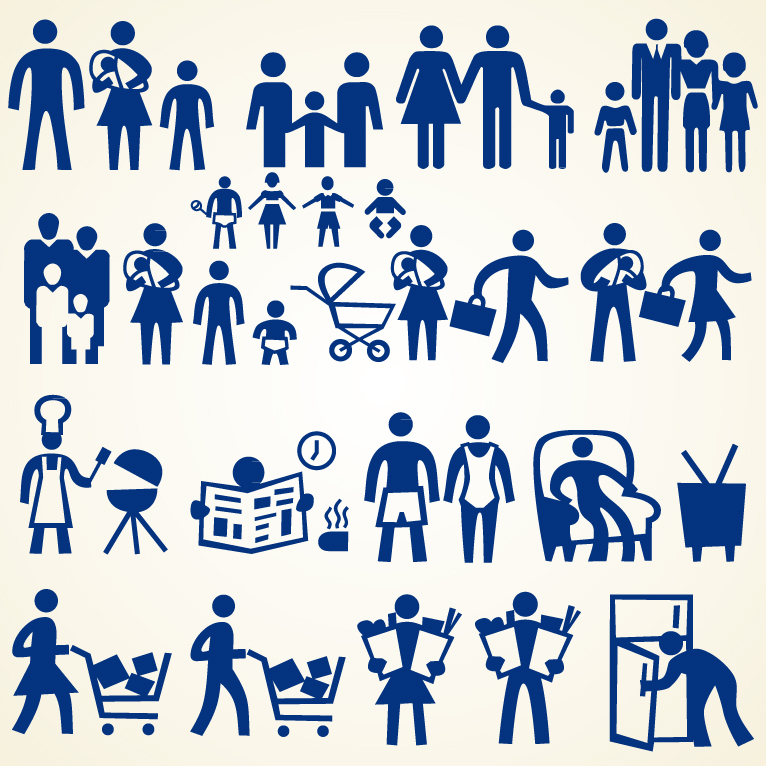 766x766 Family People Icon Set Free Vector Graphic Download